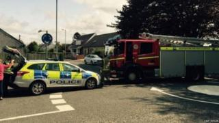 Emergency services at Carluke Primary in South Lanarkshire