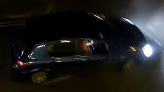 Hit and run vehicle