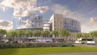 Artist's impression of new hospital