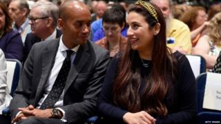 Chuka Umunna and Luciana Berger at the Lib Dem conference