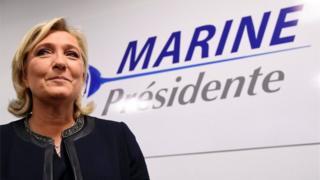 Marine Le Pen yitezwe kugera kure mu matora y'umukuru w'igihugu yimirije mu kwezi kwa gatanu mu Bufaransa