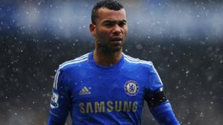 Ashley Cole playing for Chelsea