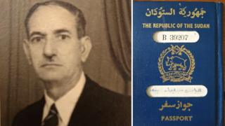 Composite showing a passport picture and a passport