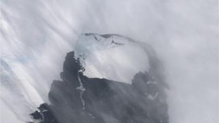 南極西部冰原衛星圖