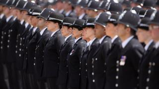 Police at passing out parade