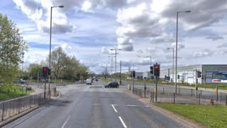 East Lancs Road - junction with Stonebridge Lane