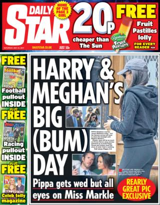 Daily Star front - 20/05/17