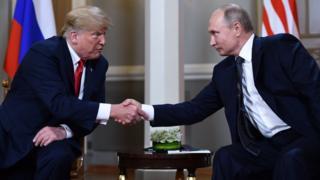 Le président américain Donald Trump et son homologue russe Vladimir Poutine