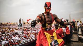 Campaña electoral en Angola