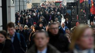 Commuters in central London