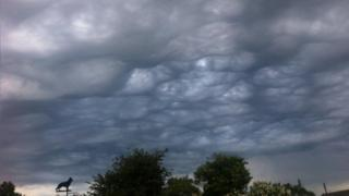 Wavy grey clouds