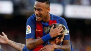 Neymar ya ci kwallaye shida a wasanni tara da ya buga wa Barca a kakar wasa ta bana