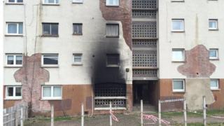 fire damaged flats