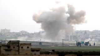 Air strike on Saraqeb, 28 February