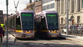 Luas trams in Dublin