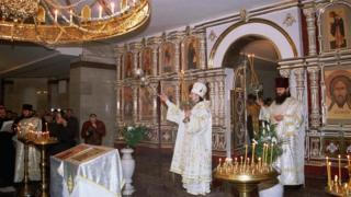 Служба в Храме-на-Крови