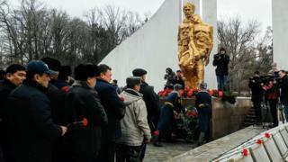 Бишкекте афганчы-жоокерлер эскерилди
