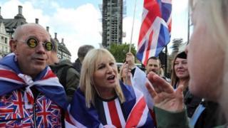 Manifestants à Londres