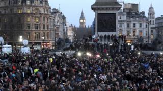 Митинг на Трафальгарской площади