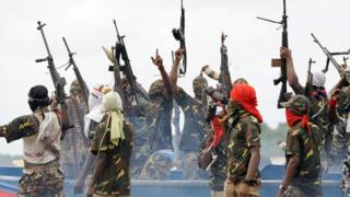 Niger Delta Avengers na millitant group wey dey worry di oil rich region for Nigeria