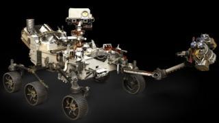 Ilustração da sonda Mars 2020