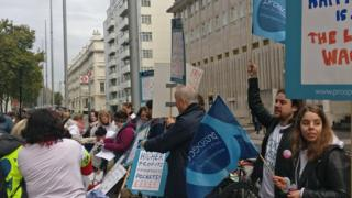 The strike in London