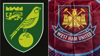 Norwich City and West Ham United