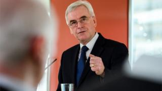 John McDonnell delivers his speech on the economy