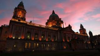 Belfast City Hall at dusk