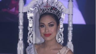 Bhasha with her crown and sash