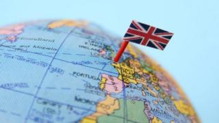 地球儀上的英國國旗