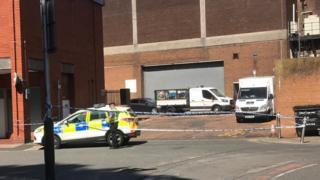 The police cordon