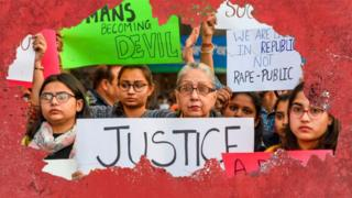 Students and social workers hold placards during a protest seeking justice for a 27-year-old veterinary doctor who was found dead in Hyderabad