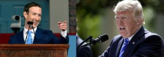 Le président américain Donald Trump a accusé le fondateur du réseau social Facebook Marc Zuckerberg d'être contre lui.