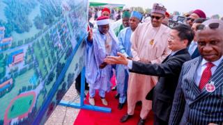 Aworan Aaarẹ Buhari nibi ifilọlẹ fasiti Daura