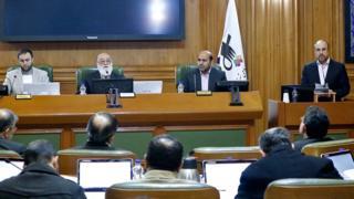 محمد باقر قالیباف، شهردار تهران در جلسه شورای شهر