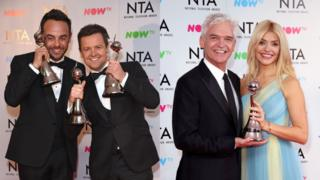 Ant and Dec, Philip Schofield and Holly Willoughby at the 2018 NTAs