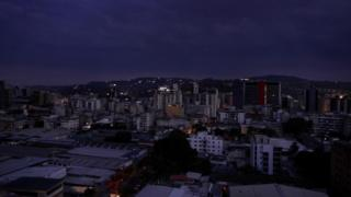 View over Caracas on Thursday evening