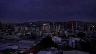 Caracas en la noche del jueves