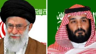 ईरान के शक्तिशाली नेता अयोतुल्लाह अली ख़मेनई और सऊदी के क्राउन प्रिंस मोहम्मद बिन सलमान
