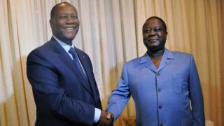Le président Allasane Ouattara a reçu pendant presque deux heures l'ex chef de l'Etat Henri Konan Bédié au palais présidentiel.