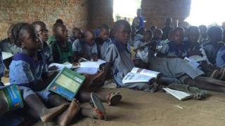 St Jude Nabuyeywe school pupils in western Kenya