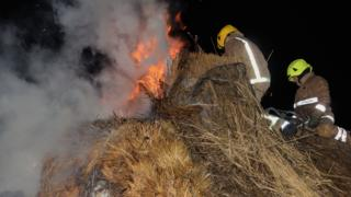 Cruck cottage fire