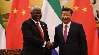 Sierra leone, Ernest Bai Koroma, Chine, Xi Xinping