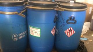Containers labelled picric acid were found at the site
