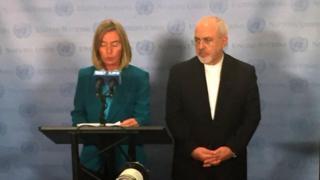 ظریف و موگرینی در کنفرانسی خبری