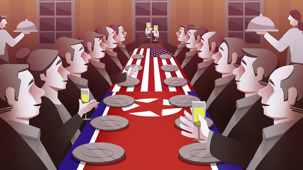 Illustration of Korea and US talks