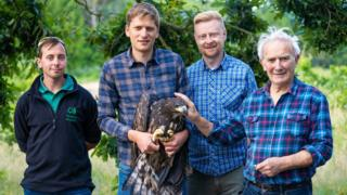 From the left: Stephen Egerton-Read; Tim Mackrill; Ian Peak and Roy Dennis