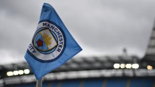A corner flag is seen ahead of the English Premier League football match between Manchester City and West Bromwich Albion at the Etihad Stadium in Manchester, north west England, on May 16, 2017
