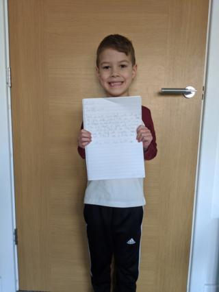 oscar and his letter